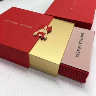 BOTTEGA VENETA VIP RED POCKET BOX SET 利是封 12個 / 金色 / 2018 / 狗年 / RED PACKET / 12 EVENLOPES / 紅包 / 限量 / 名牌 / BV
