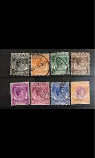 Singapore King George stamps used lot