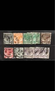 Singapore King George V Used stamps lot