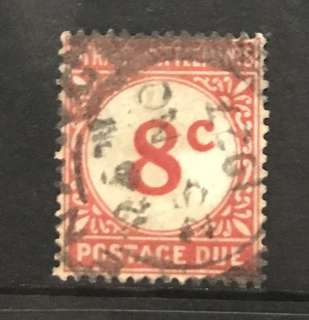 Malaya straits Early 8c postage due stamp