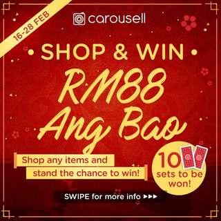 Shop & Win: RM88 Ang Bao!