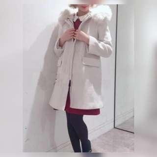 日本貴婦牌La Chapelle 最新超靚款  3 ways穿法毛領羊毛呢外套(100%new連吊牌)