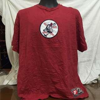 NIKE red printed plus size men tshirt xl