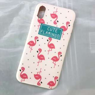 Cute flamingo soft case