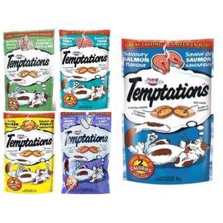 Temptations Cat Treats 85g, $10 for 3