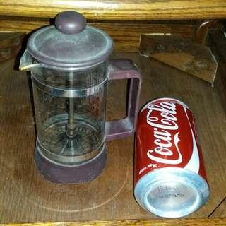 Coffee or tea maker glass, 6.5 inch tall,  trade in.Tuen.Mun