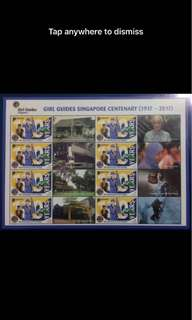 Singapore Mystamp girl guides sheet stamps