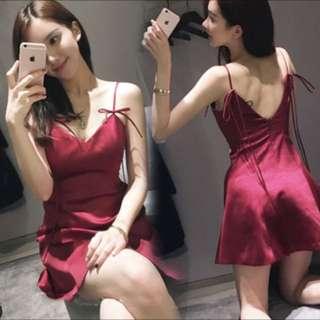 Korean halter harness dress
