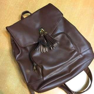 啡色 背包 日本 新淨 書包