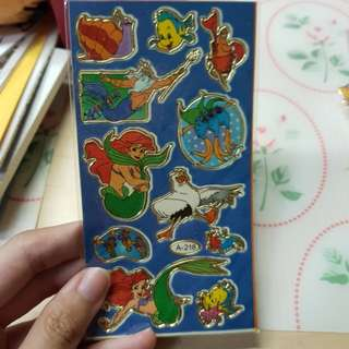 Winnie the Pooh, Little Mermaid, Snoopy stickers