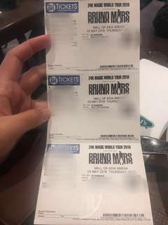 2 Extra VIP Tickets Bruno Mars ( May 3, 2018)