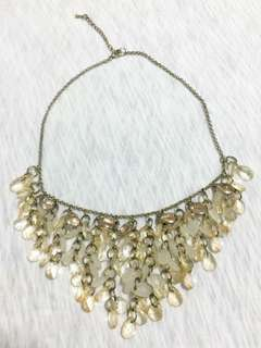 Yellow-Beaded Necklace