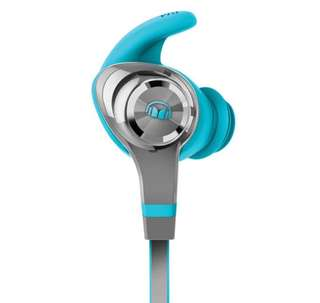 Monster iSport Intensity In-Ear Sound Isolating Bluetooth Headphones with Mic - Blue