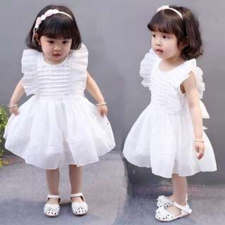 Kid girl White dress