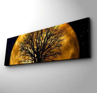 Led Canvas Art - Moon & Tree