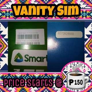 Vanity Easy Recall Memorize Special # Globe TM Smart TNT SUN LTE Sim