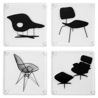Charles and Ray Eames – Coasters (set of 4) – Chairs