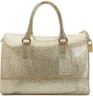 Fast sale! Furla candy bag! Gold glitter