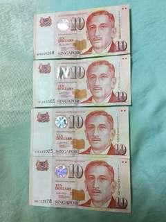 Singapore portrait $10 LHL & HTT sign
