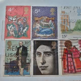44 STAMPS COLLECTION - GB GREAT BRITAIN UK UNITED KINGDOM