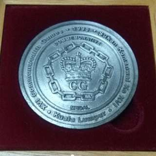 1998 Sukom Commonwealth Game Royal Selangor Pewter - Silver Proof Medallion Coin
