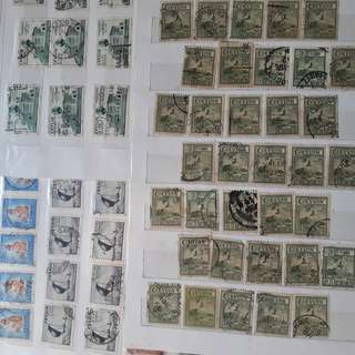 140 STAMPS COLLECTION - vintage CEYLON