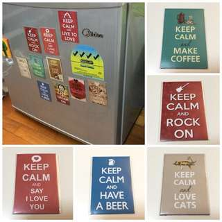 Instock Fridge Magnet Quotes Keep Calm And Happines Positive Quote