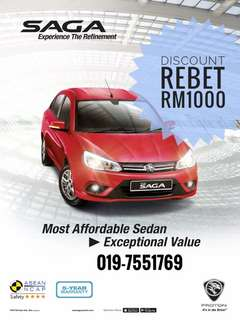 Offer New SAGA 1.3 CVT STD