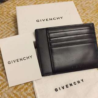 Givenchy Leather Card Holder Wallet