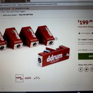 DRRUM pickups for Rhythms traveller retail $200