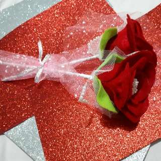 Roses Felt flower paper handmade