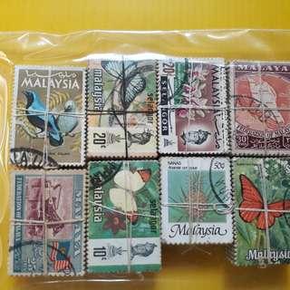 8 X 100 = 800 Stamps ( 8 Bundles ) - MALAYSIA / MALAYA Stamps