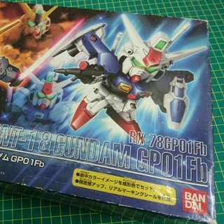 Bandal BB戰士 GP01Fb 高達 Gundam Rx-78NT1 限量雙連套裝
