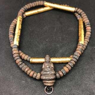 ✅ Thai Amulet ✅ - Rare Phra Kring Takrut Necklace - 108 Nawa Beads - Lp Kalong - Lp Galong - Tarkut - Thai Amulets