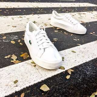 (For women) All white Lacoste Sport rubber shoes OEM