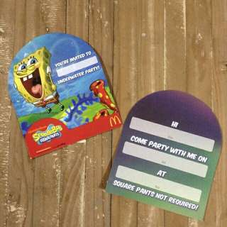 INVITATION SPONGEBOB THEME