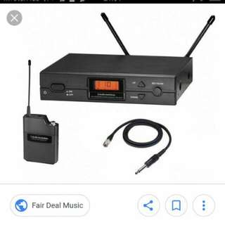 Audio Technica wireless transmitter receiver complete set