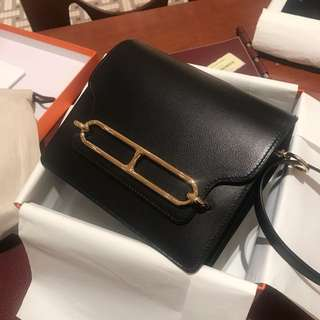 Mini Roulis Hermes brand new - Black GHW Evercolor