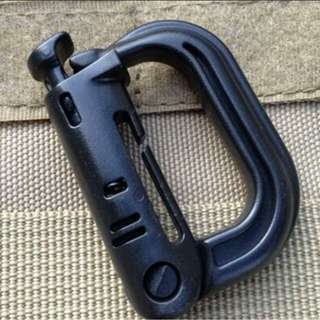 GRIMLOCK ARMY LOCKING Carabiner D-Ring Snap Shackle Key Ring EDC Molle Tactical Backpack Camping Travel Kits