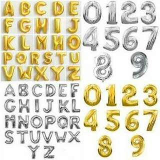 LETTER and NUMBER FOIL BALLOONS