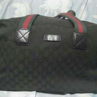 Gucci canvass duffle bag tag prada lv versace ysl