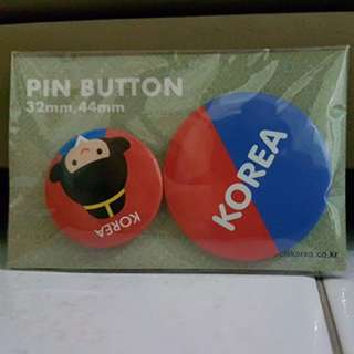 Korea Pin Button Badge