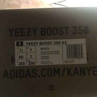 Yeezy Blue Tint Size 7.5