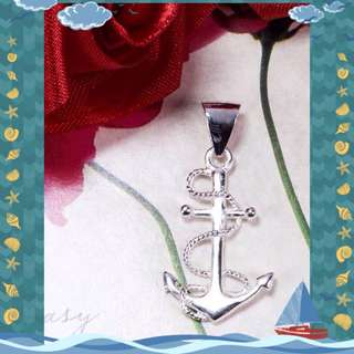 Authentic 925 Italy Silver Anchor Pendant
