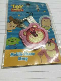 Mobile phone strap toy story 士多啤梨熊