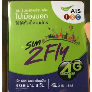 ASIA & AUSTRALIA SIM CARD 8 DAYS UNLIMITED DATA - 1st 4GB 4G
