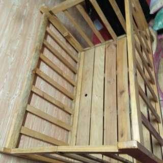 Crib for baby nababa at natataas po sya.  Good as new