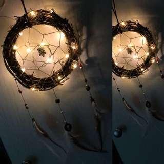 Lighted handmade dreamcatcher 捕夢網