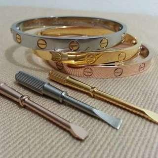 Cartier dual screw bracelet