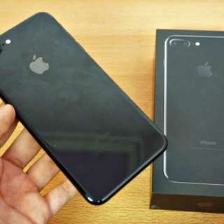 IPhone 7 Plus 256GB Jet Black 99% New With One Year Warenty with every Thing.